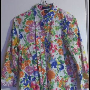 Lovely Tailored Flowers Blouse by Chaps
